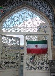 در آهنی گره چینی مسجد امام حسن مجتبی علیه السلام پردیسان قم
