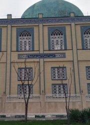 پنجره آهنی گره چینی مسجد امیر المومنین علیه السلام پردیسان قم