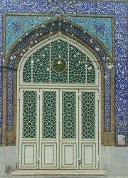 درب چهارلنگه بازشو مسجد فاطمیه اهواز