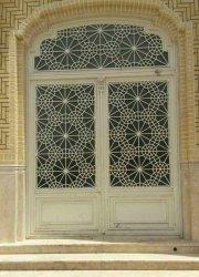 درب دولنگه گره سازی شده ساختمان اداره اوقاف بلوارپانزده خرداد قم